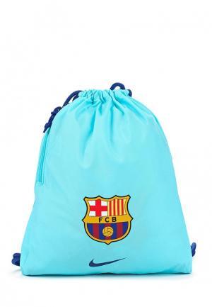 Мешок Nike. Цвет: голубой