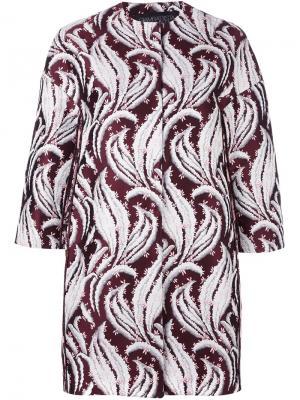 Жаккардовая куртка с абстрактным узором Giambattista Valli. Цвет: розовый и фиолетовый
