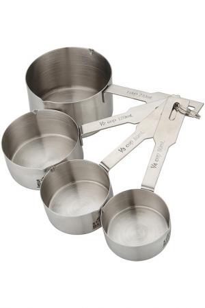 Набор мерных чашек 4 пр. STAHLBERG. Цвет: серебряный