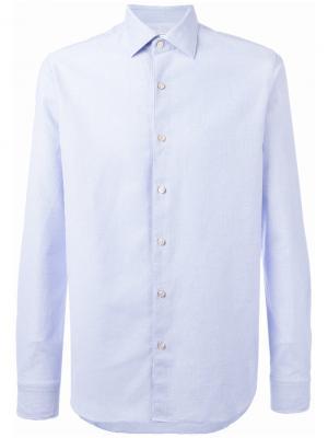 Рубашка на пуговицах Xacus. Цвет: синий