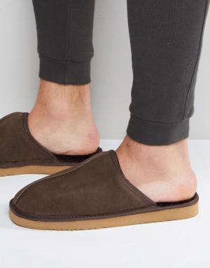 Dunlop Слиперы. Цвет: коричневый