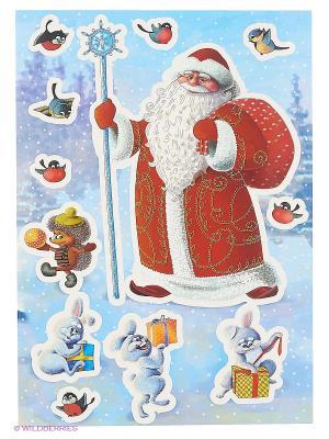Дед Мороз и лесные зверята DECORETTO. Цвет: красный, белый, сиреневый