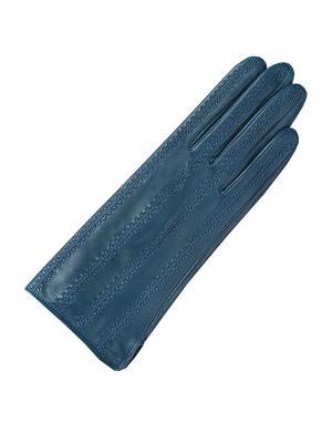 Женские перчатки ESMEE. Цвет: синий, бирюзовый