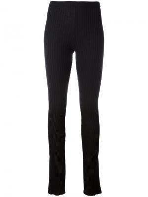 Длинные леггинсы в рубчик Givenchy. Цвет: чёрный