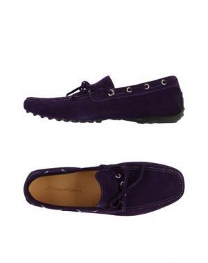 Мокасины SANTONI CLUB. Цвет: фиолетовый