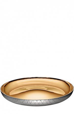 Декоративная чаша для центра стола Silversmooth Christofle. Цвет: бесцветный