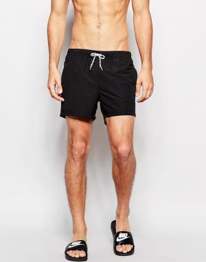 ASOS Черные короткие шорты для плавания. Цвет: черный