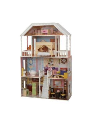 Кукольный домик Саванна KidKraft. Цвет: бледно-розовый, белый