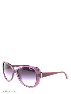 Очки солнцезащитные Vogue. Цвет: фиолетовый, сливовый
