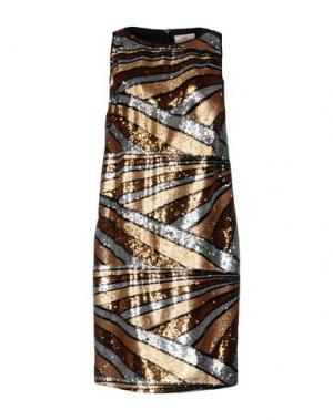 Платье до колена GAI MATTIOLO. Цвет: золотистый