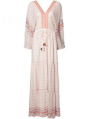 Длинное платье с кисточками Ulla Johnson. Цвет: белый