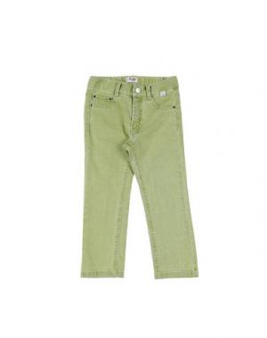 Джинсовые брюки IL GUFO. Цвет: светло-зеленый