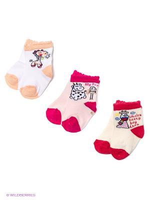Носки PERA MAYA. Цвет: светло-бежевый, бледно-розовый, белый