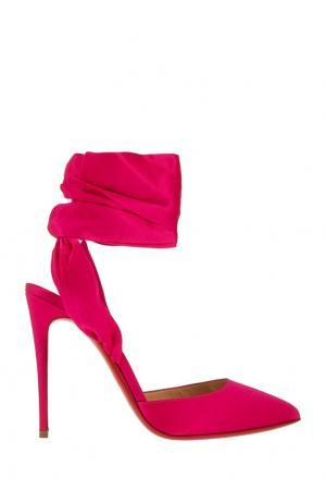 Шелковые туфли Douse Du Desert 100 Christian Louboutin. Цвет: розовый