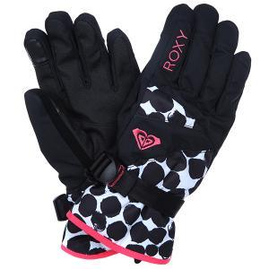 Перчатки сноубордические женские  Merry Go Gloves Amazone Flowers Blue Roxy. Цвет: синий,мультиколор