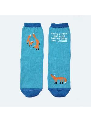 Носки махровые Big Bang Socks. Цвет: голубой
