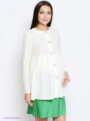 Блузка MammySize. Цвет: молочный