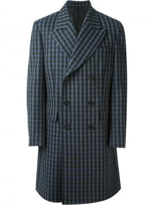 Двубортное пальто E. Tautz. Цвет: синий