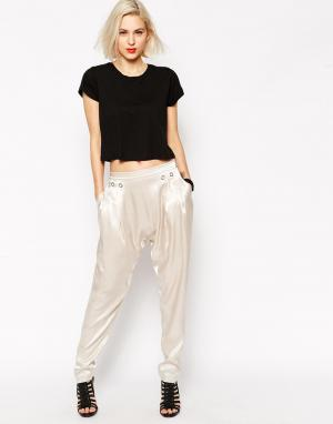 L.A.M.B. Атласные брюки-галифе L.A.M.B. Цвет: светло-бежевый