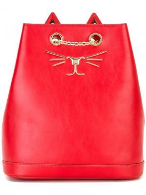 Рюкзак Feline Charlotte Olympia. Цвет: красный
