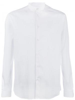 Рубашка с узким воротником-стойкой Paolo Pecora. Цвет: белый