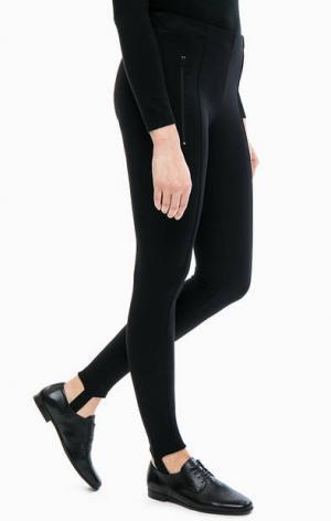 Зауженные брюки из вискозы с карманами rich&royal. Цвет: черный