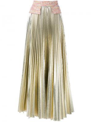 Плиссированная юбка Daizy Shely. Цвет: металлический