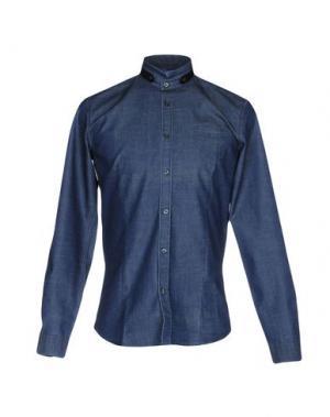 Джинсовая рубашка DAVID NAMAN. Цвет: синий