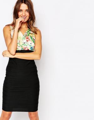 Amy Childs Платье-бандаж с цветочный лифом Mimi. Цвет: мульти