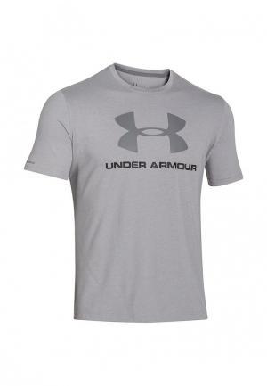 Футболка спортивная Under Armour. Цвет: серый