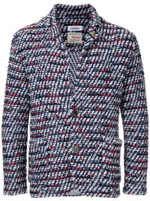 Твидовый пиджак Vimar COOHEM. Цвет: белый