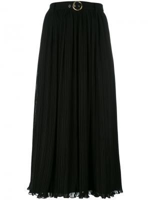 Плиссированная юбка миди Kenzo. Цвет: чёрный