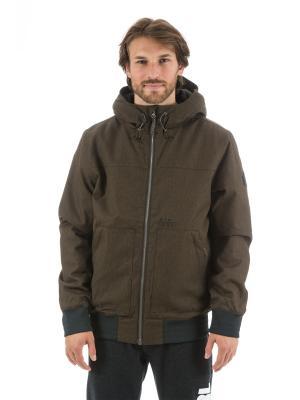 Куртка  ONE SHOT ANTI JACKET Rip Curl. Цвет: коричневый, серо-коричневый