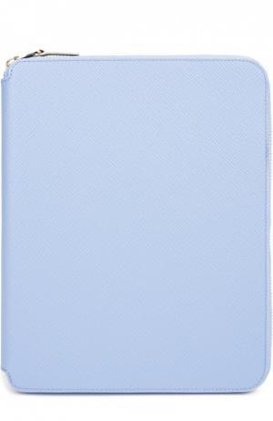 Папка с блокнотом Smythson. Цвет: голубой