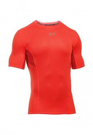 Футболка компрессионная Under Armour. Цвет: оранжевый