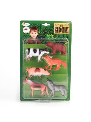 Набор из 6-и животных Играем Вместе (домашние и лесные) 10см. Цвет: коричневый, белый, серый