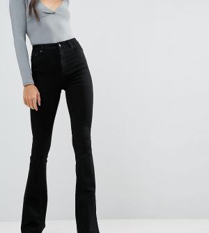 ASOS Tall Черные расклешенные джинсы DESIGN. Цвет: черный