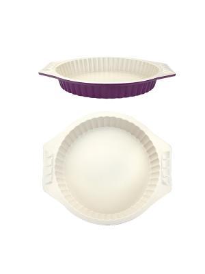 Круглая форма для выпечки 34х30х4,5 см Augustin Welz. Цвет: бежевый, фиолетовый