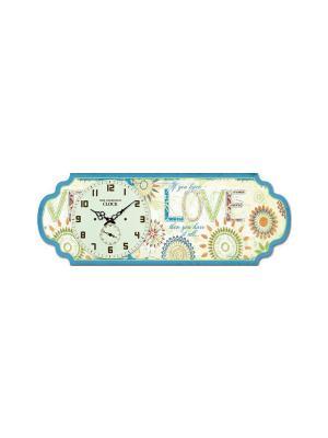 Часы настольные Бирюза Magic Home. Цвет: белый
