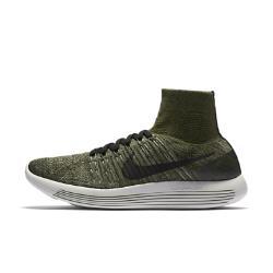 Мужские беговые кроссовки  LunarEpic Flyknit Nike. Цвет: зеленый
