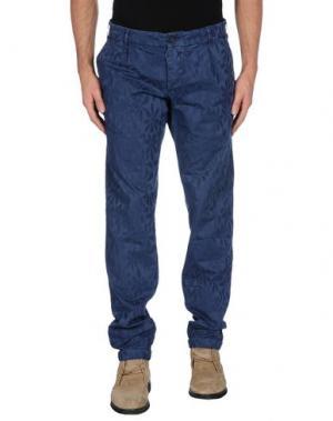 Повседневные брюки MONOCROM. Цвет: синий