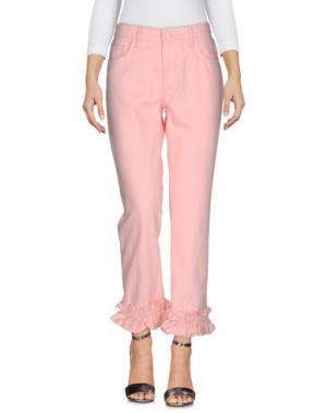 Джинсовые брюки SIMONE ROCHA x J BRAND. Цвет: розовый