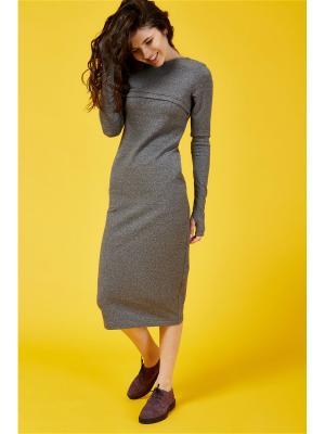 Платье для кормления PURE MA антрацит, Миди MilkyMama