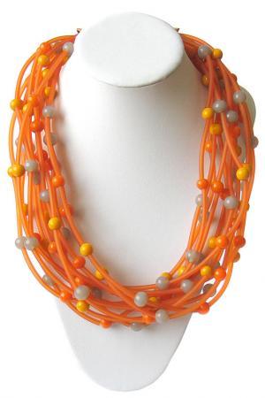 Бусы Divetro. Цвет: оранжевый