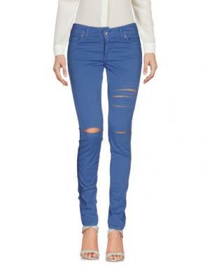 Повседневные брюки PDK. Цвет: пастельно-синий