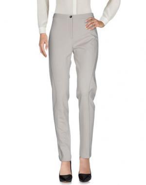 Повседневные брюки GOSSIP. Цвет: светло-серый