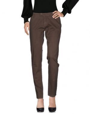 Повседневные брюки DUCK FARM. Цвет: зеленый-милитари