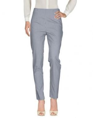 Повседневные брюки CRISTINA ROCCA. Цвет: стальной серый