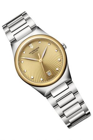 Часы Victorinox. Цвет: золотой