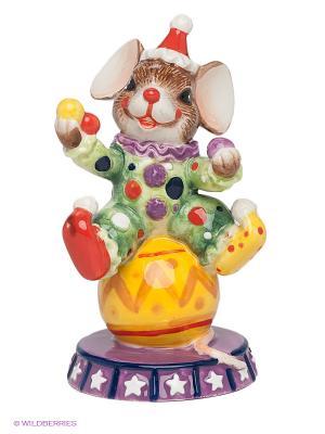 Фигурка Мышонок-Клоун Pavone. Цвет: желтый, зеленый, фиолетовый